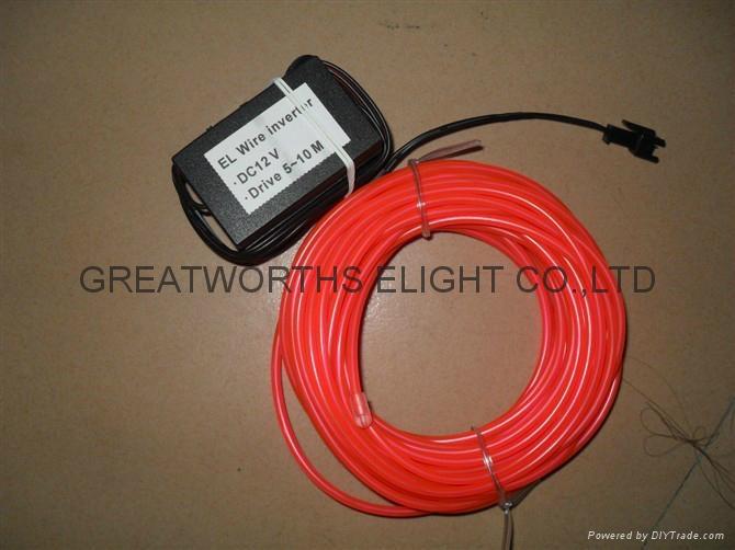 5米12V驱动器电池盒EL发光线 车内EL冷光线 汽车装饰灯 汽车内饰改装 19
