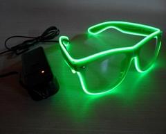 EL發光眼鏡 EL 眼鏡綠色