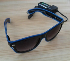 EL flash sunglasses
