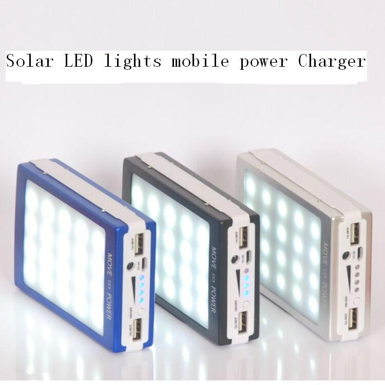 super thin solar power bank led camp light mobile charger 1