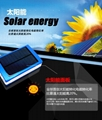 super thin solar power bank led camp light mobile charger 4