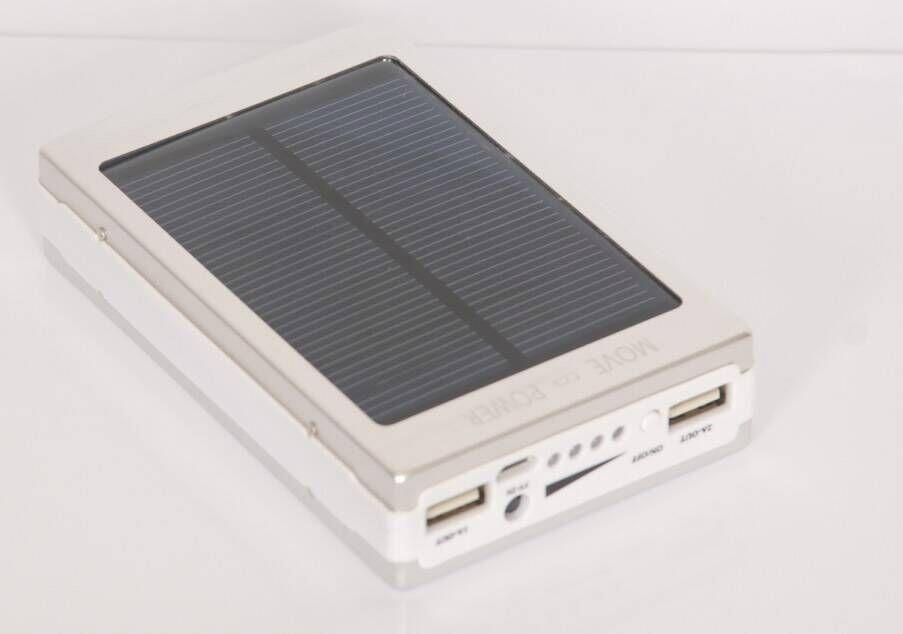 super thin solar power bank led camp light mobile charger 8