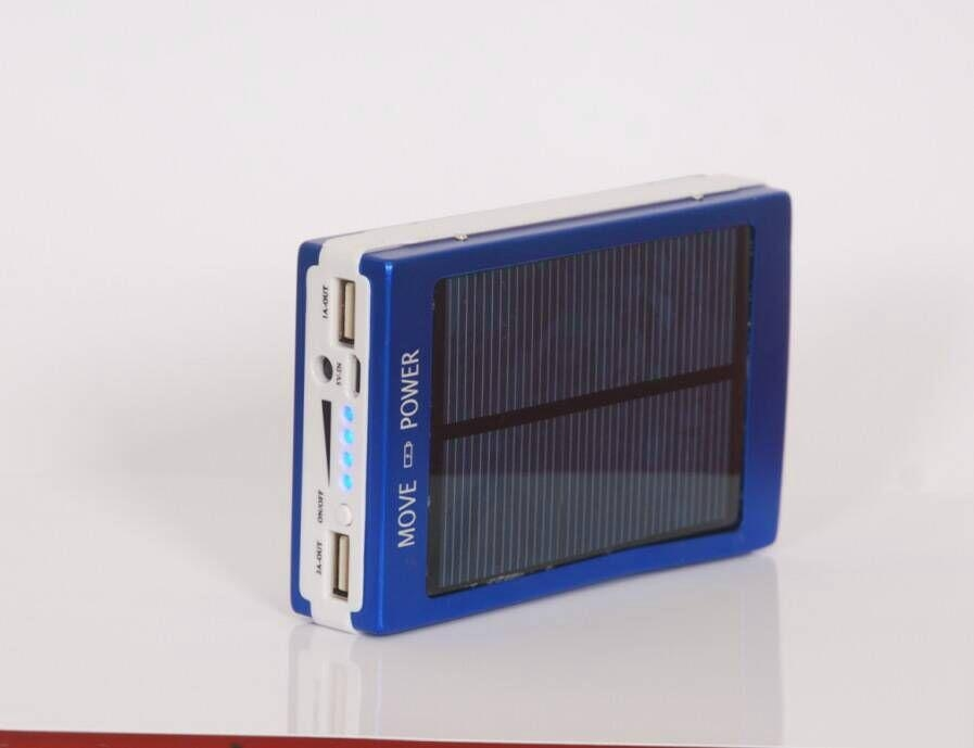 super thin solar power bank led camp light mobile charger 13