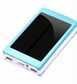 new hot product led solar charger solar power bank led camp light mobile charger 2
