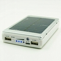 new hot product led solar charger solar power bank led camp light mobile charger 4
