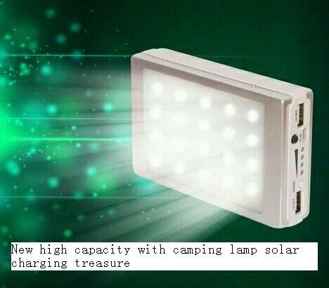 new hot product led solar charger solar power bank led camp light mobile charger 11