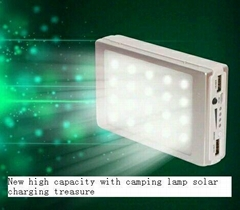 led solar charger solar power bank led camp light mobile charger