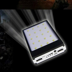 solar power bank+led camping lamp SOS light