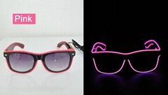 EL wire glasses EL sunglasses rayban light glasses