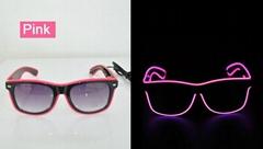 EL wire glasses EL sunglasses rayban light glasses