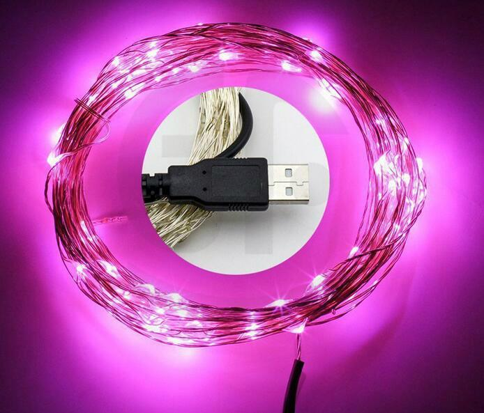 電商爆款 USB銅線燈串 充電寶DC5V燈串 led防水銅線燈 1