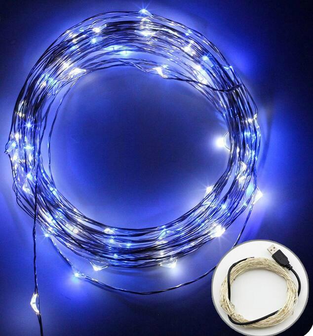 電商爆款 USB銅線燈串 充電寶DC5V燈串 led防水銅線燈 17