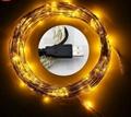 電商爆款 USB銅線燈串 充電寶DC5V燈串 led防水銅線燈 5