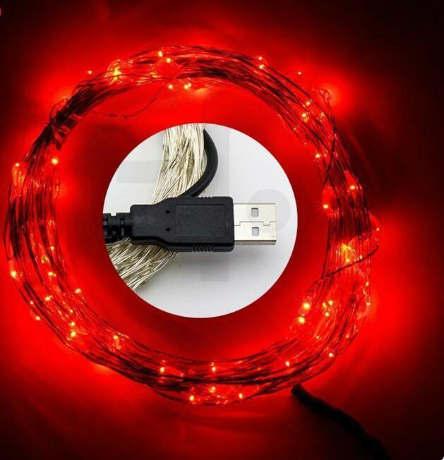 電商爆款 USB銅線燈串 充電寶DC5V燈串 led防水銅線燈 4