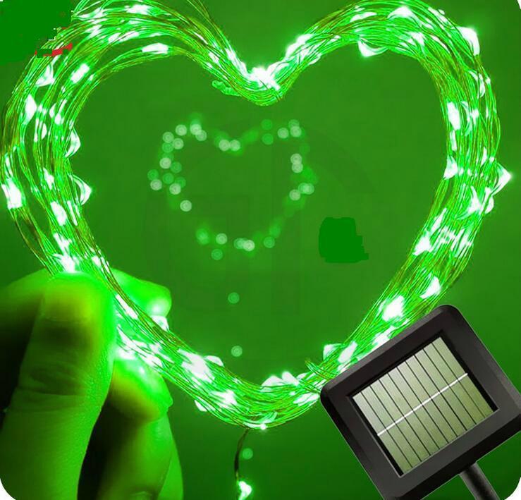 跨境電商熱銷 銅線燈太陽能燈串 戶外花園防水串燈 2