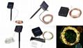 跨境電商熱銷 銅線燈太陽能燈串 戶外花園防水串燈 10
