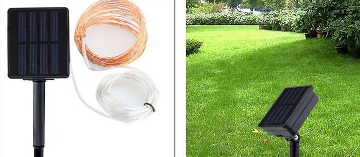 跨境電商熱銷 銅線燈太陽能燈串 戶外花園防水串燈 15