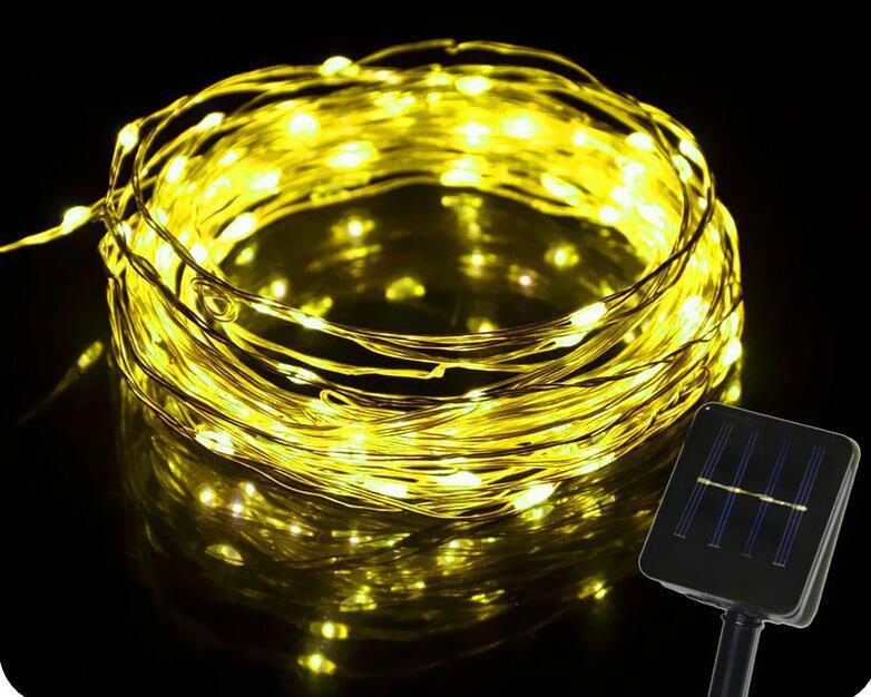 跨境電商熱銷 銅線燈太陽能燈串 戶外花園防水串燈 4