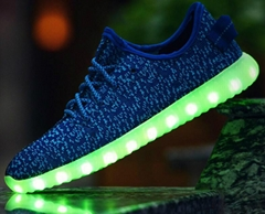 led strip shoes light colorful fluorescent shoe lovers LED running shoes