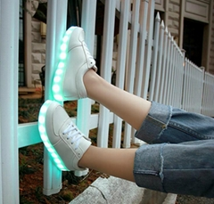 Foreign trade wholesale colorful 11 mode light shoes LED lamp USB charging fluor