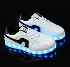 wholesale colorful light shoes LED lamp USB charging shoes