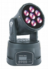 MINI LED MOVING HEAD WASH 7X8W RGBW QUAD LEDs