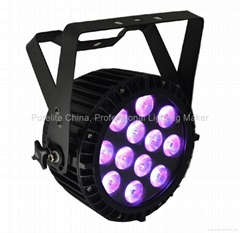 LED PAR Light  6in1 RGBWAU 15WX12 Advanced DMX Pro POWERCON Stage Light