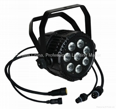 IP65 8X10W RGBWA  5IN1 LED Par Light Waterproof Outdoor use DMX Stage Light