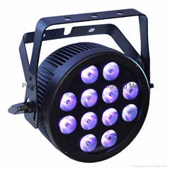 12X12W RGBWA UV Hex Slim LED Par Light With POWERCON