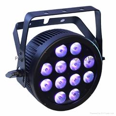 12X12W RGBWA UV Hex Slim LED Par Light With POWERCON