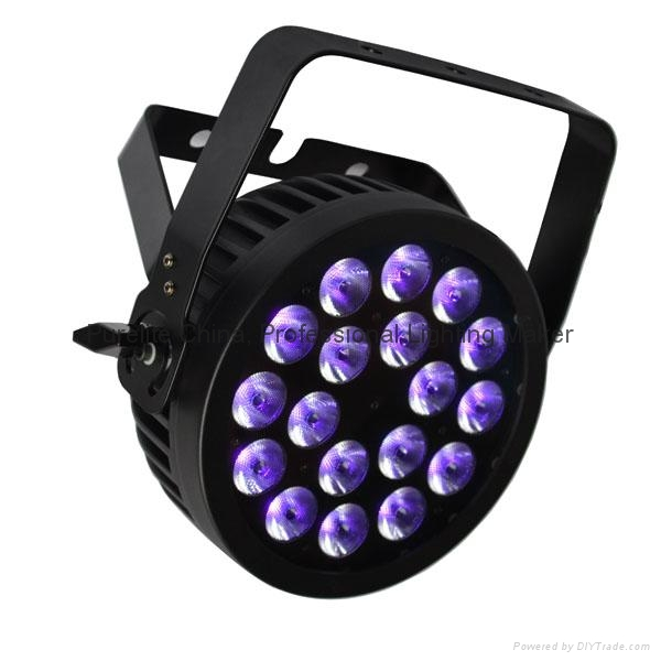 CE approved POWERCON 18x12W RGBWA UV LED Par Stage Light 4