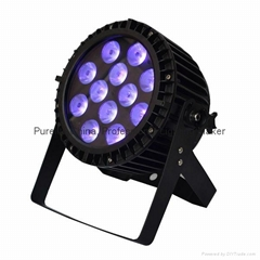 IP65 12X12W RGBWA UV 6IN1 LED Par Light Waterproof Outdoor use DMX Stage Light