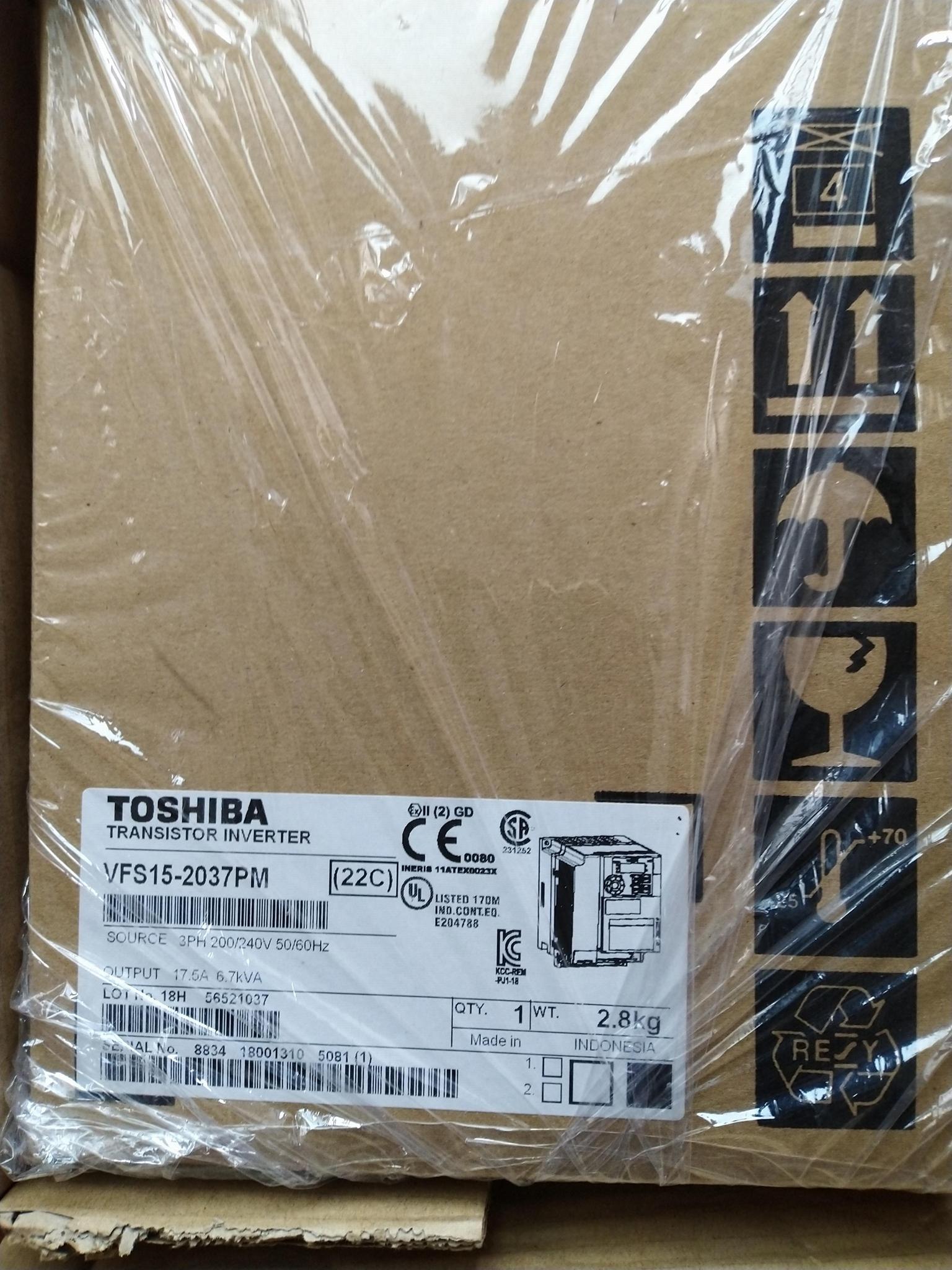 TOSHIBA 东芝 VF-S15 3PH-200/240V-0.2KW/0.25HP变频器 7