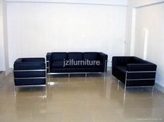 leather sofa&le corbusie