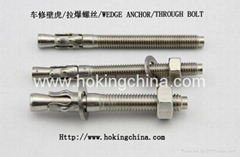 stainless steel wedge anchor(HSS-028) (Hot Product - 1*)