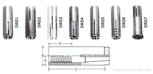 不鏽鋼內迫栓 2