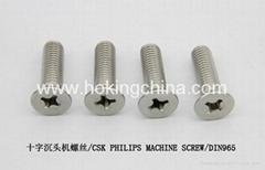不锈钢机螺丝(GB819)