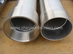 Continuous slot wire mesh screen