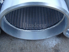 """10 3/4"""" Stainless steel continuous slot wedge wire screen"""