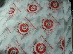 28G蠟光紙印刷紅色LOGO,包蔬菜專用
