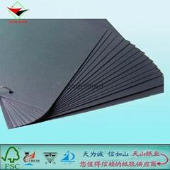質優價廉黑卡紙廠批發做皮帶專用透心黑卡紙1-2MM