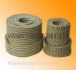 PTFE & Kevlar in Zebra braided packing
