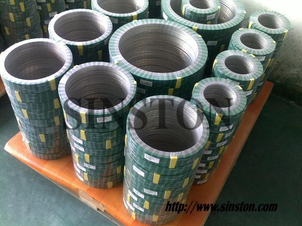 spiral wound gasket with inner and outer ring 2