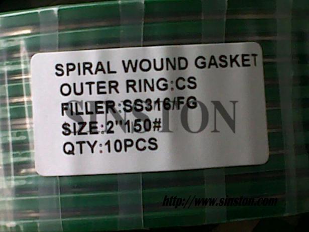 ASME B16.20 spiral wound gasket 3