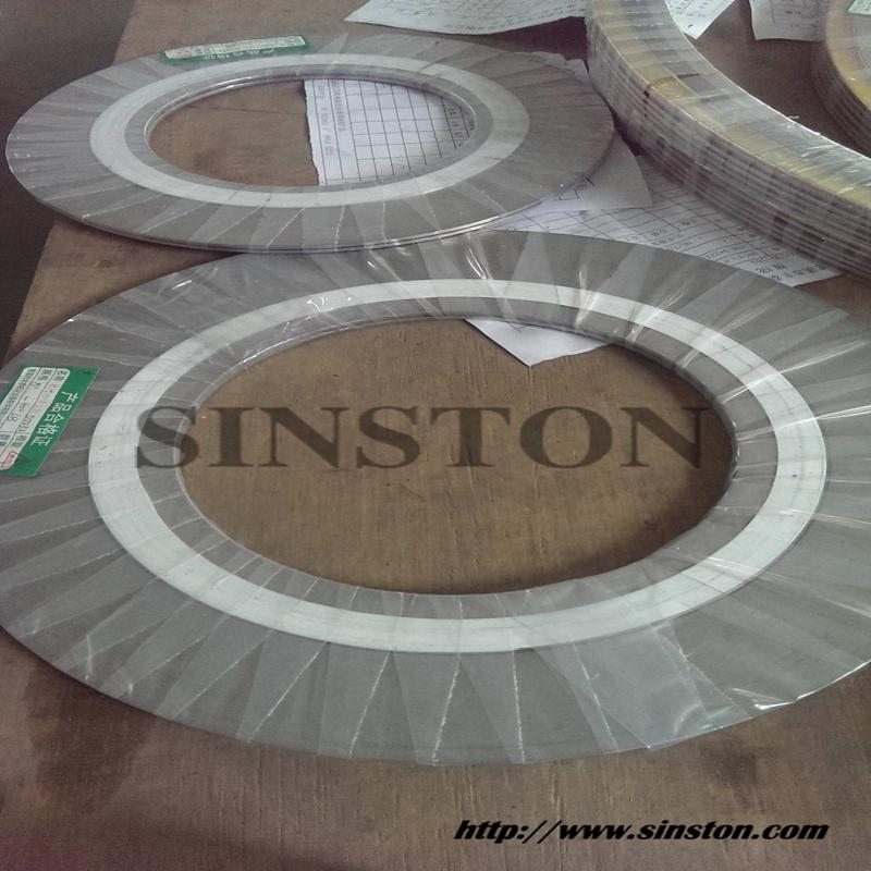 spiral wound gasket with 304 inner ring and carbon steel outer ring 6