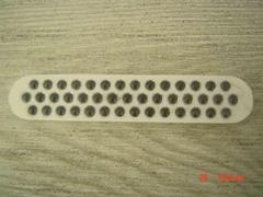 43 glass beads panel
