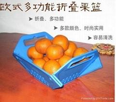 折叠水果盘塑胶注塑模具