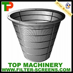 Cylindrical Continuous slot Basket sieve