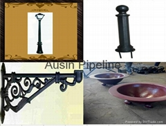 Cast Iron lamp pole/outdoor bench/road barrier/manhole cover