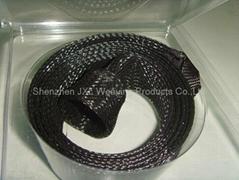Fishing rod braided sleeving